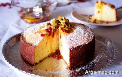طرز تهیه کیک زرشک خانگی خوش پخت و خوشمزه