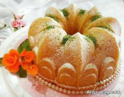 طرز تهیه کیک هل و گلاب یک کیک خانگی خوشمزه و دوست داشتنی
