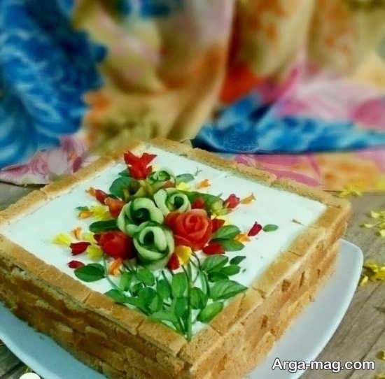 تزیین کیک مرغ با ایده های خانگی جذاب