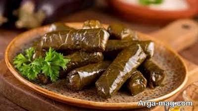 طرز تهیه دلمه لبنانی با استفاده از برگ مو