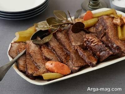 طرز تهیه رست بیف لذیذ و خوشمزه با دستور پخت اصلی و حرفه ای
