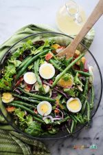 سالاد سبک با لوبیا سبز برای پیش غذا
